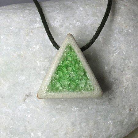 Colar aromático individual – Triângulo Verde
