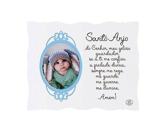 Porta Retrato azul 10x15- Santo Anjo