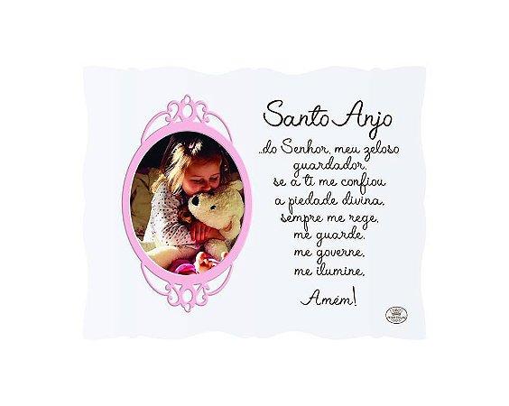 Porta Retrato rosa 10x15- Santo Anjo