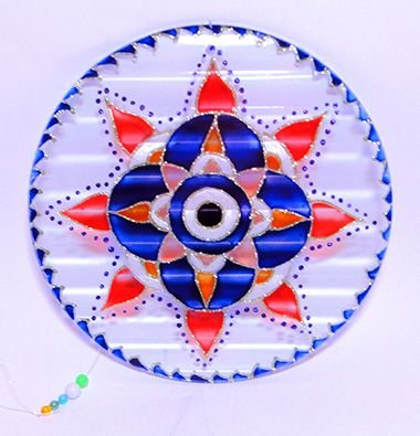 Manda Vidro Olho grego - Azul