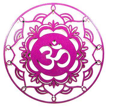 Mandala Simbolo OM- Roxo