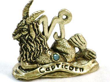 Signo Capricórnio em Estanho