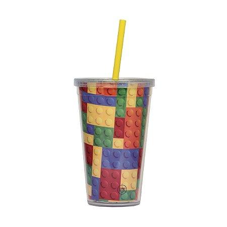 Copo Canudo - Lego