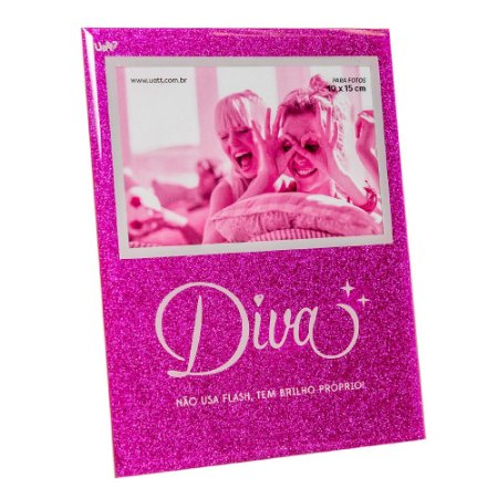 Porta Retrato 10x15 glitter- Diva