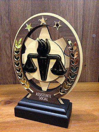 Troféu Madeira MDF Cursos - Assistente Social