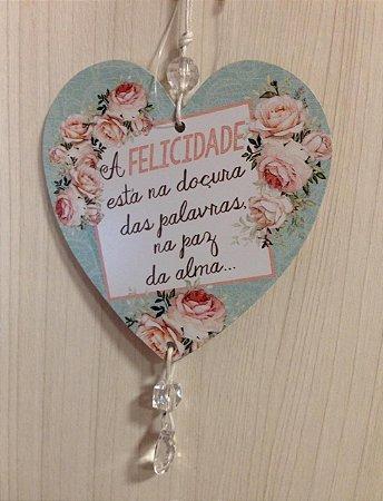 Móbile coração- A felicidade esta na doçura...