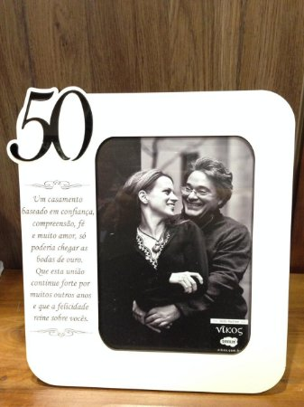 Porta Retrato MDF 50 ANOS- Um casamento baseado em confiança...