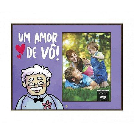 Porta Retrato MFD/Tecido - Um amor de Vô!
