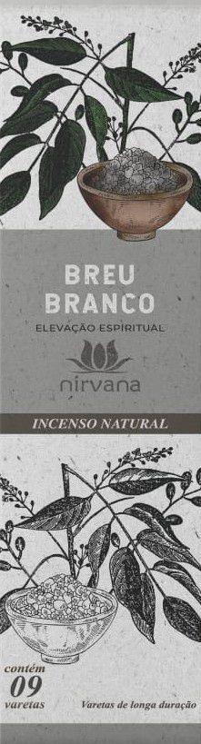 Incenso Natural 9 varetas Nirvana - Breu Branco