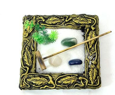 Jardim Zen Quadrado - Dourado