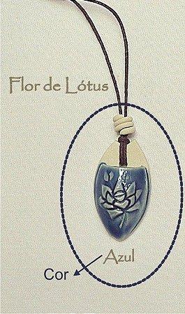 Colar aromático individual – Flor de Lótus Azul
