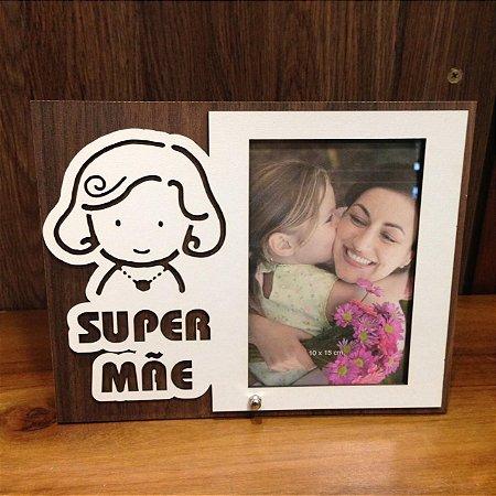 Porta Retrato MDF 10X15-  Super mãe