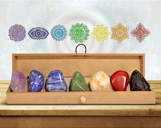 Caixa de Pedras - 7 Chakras