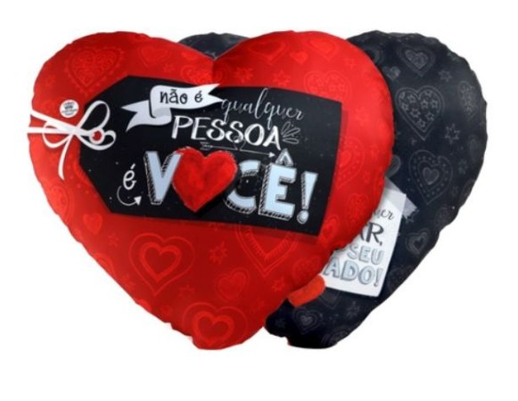 Almofada coração G - Não é qualquer pessoa