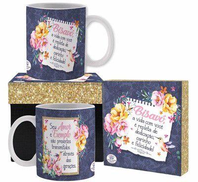 Caneca cerâmica com Caixa- Bisavó seu amor é exemplo....