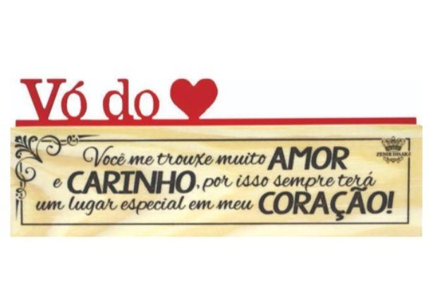 Madeirinha dupla - Vó do coração