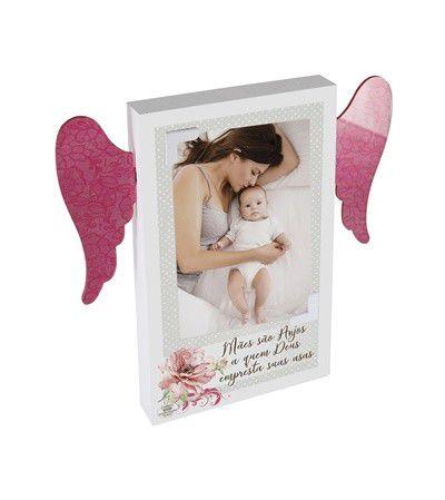Placa de mesa com Asas - Mãe são anjos...