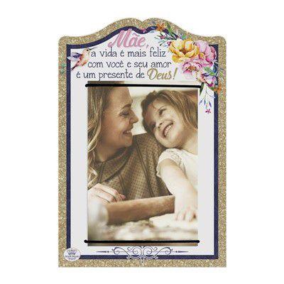 Porta Retrato elástico- Mãe a vida é mais feliz com você