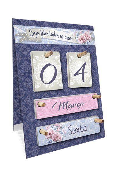 Calendário permanente de mesa - Floral