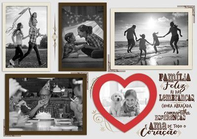 Quadro Porta Retrato - Família Feliz