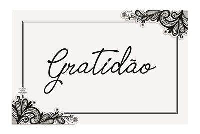 Quadro com aplique arabesco- Gratidão