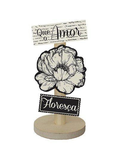 Enfeite de Mesa - Que o amor floreça