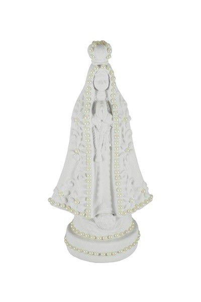 Nossa Senhora Aparecida com Pérolas - Branco