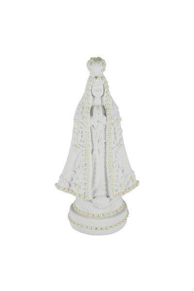 Nossa Senhora Aparecida com Pérolas - Branca