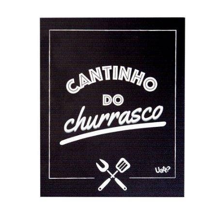 Placa decorativa - Cantinho do Churrasco