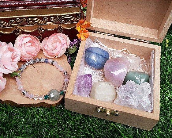 Caixa 7 pedras com Pulseira- Ansiedade e Estresse