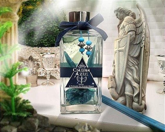 Difusor de Proteção Espiritual com Pedra - Cianita Azul