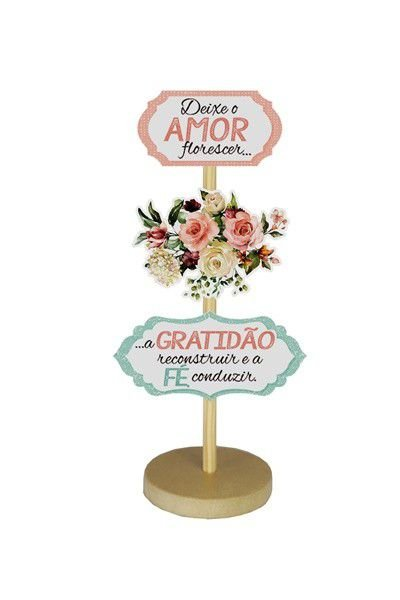 Enfeite de Mesa - Que o amor floresça ... rosas