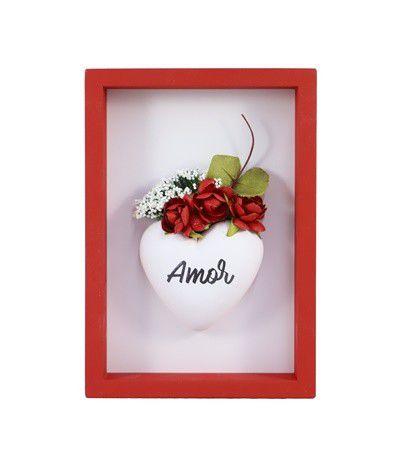 Quadro mini Nicho vermelho - Amor
