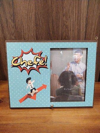 Porta Retrato MFD/Tecido - Chefe 10x15