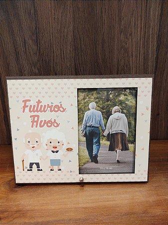Porta Retrato MFD/Tecido - Futuros Avós