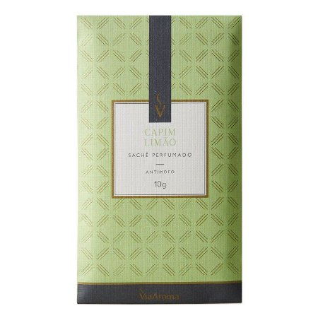 Sachê Perfumado Via Aroma 10g - Capim Limão
