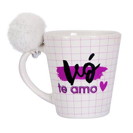 Caneca Pompom- Vó te amo