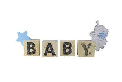 Enfeite de Mesa cubos - Baby Azul
