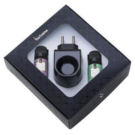 Kit Aromatizador Elétrico Standard Preto com Essências BAMBOO E LAVANDA