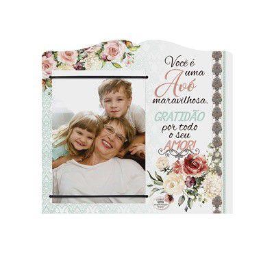 Porta Retrato com elástico MDF 10x15- Avó