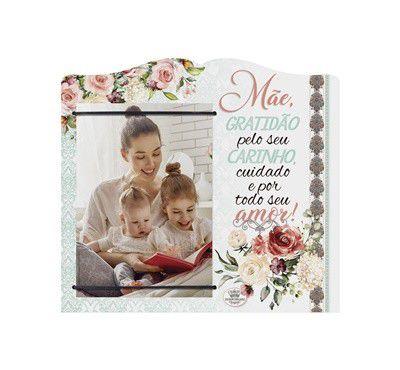 Porta Retrato com elástico MDF 10x15- Mãe gratidão