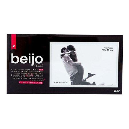 Porta Retrato Vidro 10x15- Beijo