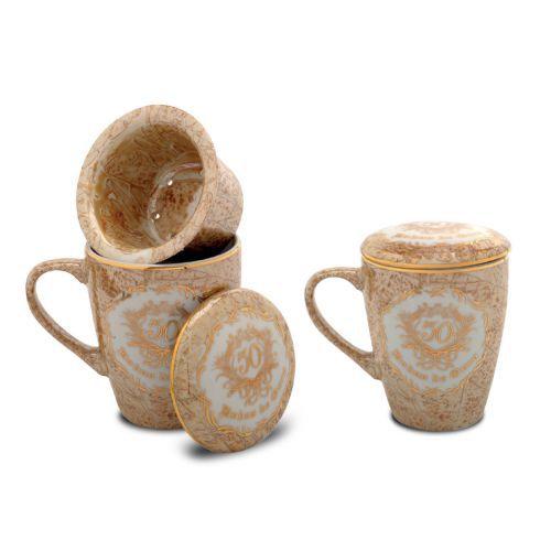 Dupla de Canecas com Infusor para Chá - 50 anos