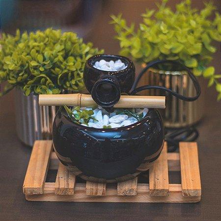 Fonte cerâmica bojuda - Preta