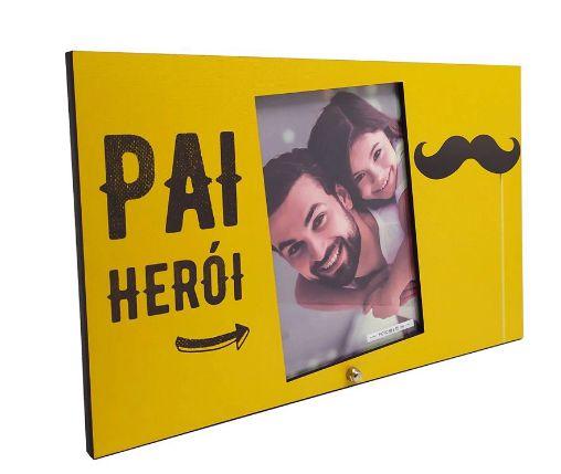 Porta retrato MDF 10x15- Pai Herói