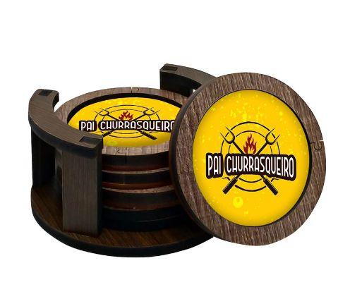 Porta copos MDF- Pai churrasqueiro