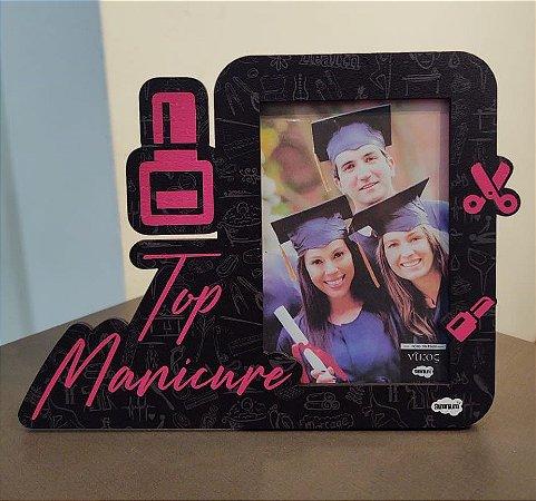 Porta retrato recorte  MDF 10x15 - Top Manicure