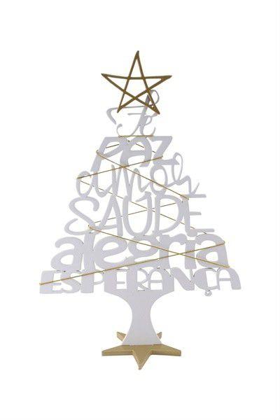 Enfeite Árvore de Natal - Palavras