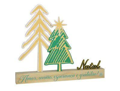 Enfeite mesa Pinheiros - Natal VERDE