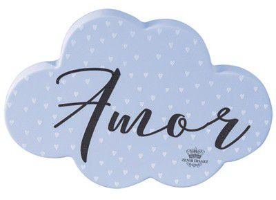 Enfeite de Mesa nuvem AZUL - Amor